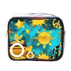 Gold Music Clef Star Dove Harmony Mini Toiletries Bag (one Side)