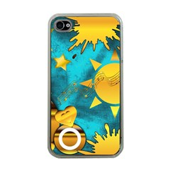 Gold Music Clef Star Dove Harmony Iphone 4 Case (clear)
