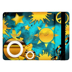 Gold Music Clef Star Dove Harmony Samsung Galaxy Tab Pro 12 2  Flip Case