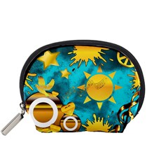 Gold Music Clef Star Dove Harmony Accessory Pouch (small)