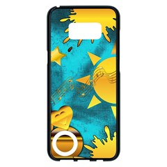 Gold Music Clef Star Dove Harmony Samsung Galaxy S8 Plus Black Seamless Case