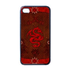 Awesome Chinese Dragon, Red Colors Iphone 4 Case (black) by FantasyWorld7