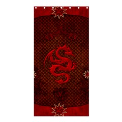 Awesome Chinese Dragon, Red Colors Shower Curtain 36  X 72  (stall)  by FantasyWorld7