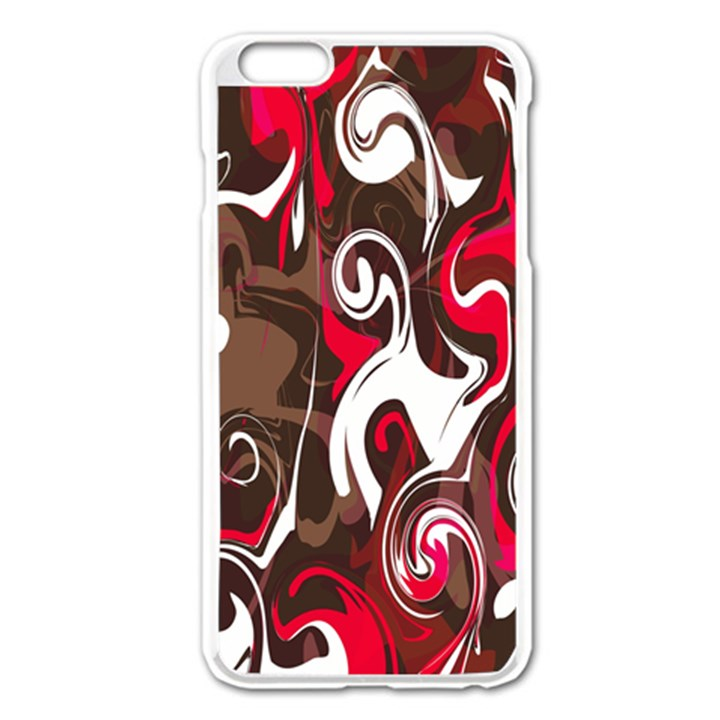 Fancy Magenta Marble iPhone 6 Plus/6S Plus Enamel White Case