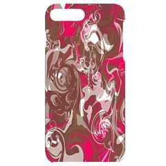 Fancy Magenta Marble Iphone 7/8 Plus Black Frosting Case