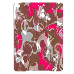 Fancy Magenta Marble Apple Ipad Pro 9 7   Black Frosting Case by tarastyle
