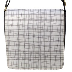 Abstract Lines Flap Closure Messenger Bag (s)