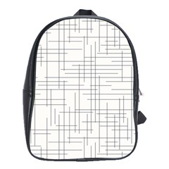Abstract Lines School Bag (xl) by tarastyle