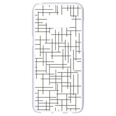Abstract Lines Samsung Galaxy S8 White Seamless Case by tarastyle