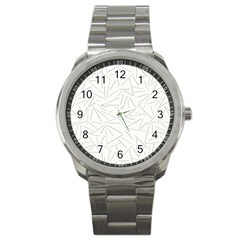Abstract Lines Sport Metal Watch by tarastyle
