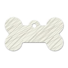 Abstract Lines Dog Tag Bone (two Sides)