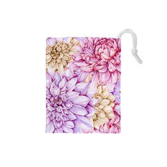 Watercolor Autumn Garden Drawstring Pouch (small)