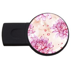 Watercolor Autumn Garden Usb Flash Drive Round (4 Gb) by tarastyle