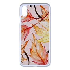 Watercolor Autumn Garden Iphone Xs Max Seamless Case (white) by tarastyle