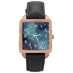 Above All Things Rose Gold Leather Watch  by WensdaiAddamns