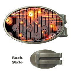 Music Notes Sound Musical Audio Money Clips (oval)
