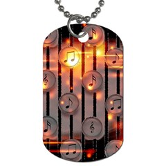 Music Notes Sound Musical Audio Dog Tag (two Sides)