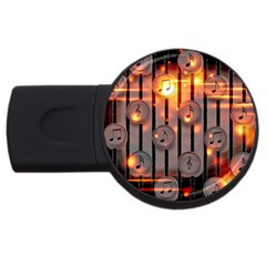 Music Notes Sound Musical Audio Usb Flash Drive Round (2 Gb)
