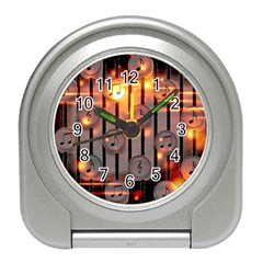 Music Notes Sound Musical Audio Travel Alarm Clock