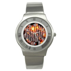 Music Notes Sound Musical Audio Stainless Steel Watch