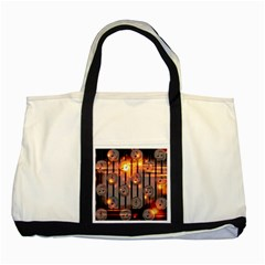 Music Notes Sound Musical Audio Two Tone Tote Bag