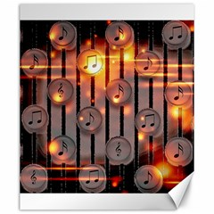 Music Notes Sound Musical Audio Canvas 20  X 24