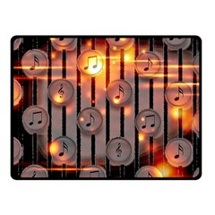 Music Notes Sound Musical Audio Fleece Blanket (small)