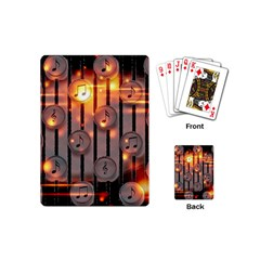 Music Notes Sound Musical Audio Playing Cards (mini)