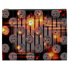 Music Notes Sound Musical Audio Cosmetic Bag (xxxl)