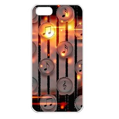 Music Notes Sound Musical Audio Iphone 5 Seamless Case (white)