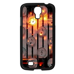 Music Notes Sound Musical Audio Samsung Galaxy S4 I9500/ I9505 Case (black)