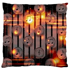 Music Notes Sound Musical Audio Standard Flano Cushion Case (one Side)