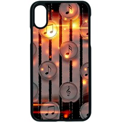 Music Notes Sound Musical Audio Iphone X Seamless Case (black)