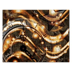 Time Clock Star Hour Day Night Rectangular Jigsaw Puzzl