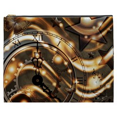 Time Clock Star Hour Day Night Cosmetic Bag (xxxl)
