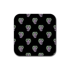 Creepy Zombies Motif Pattern Illustration Rubber Coaster (square)  by dflcprintsclothing