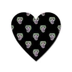 Creepy Zombies Motif Pattern Illustration Heart Magnet by dflcprintsclothing