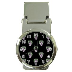 Creepy Zombies Motif Pattern Illustration Money Clip Watches