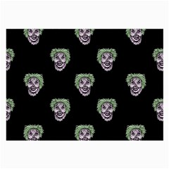 Creepy Zombies Motif Pattern Illustration Large Glasses Cloth (2 Side)