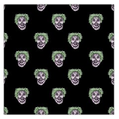 Creepy Zombies Motif Pattern Illustration Large Satin Scarf (square)