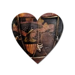 Grand Army Of The Republic Drum Heart Magnet by Riverwoman