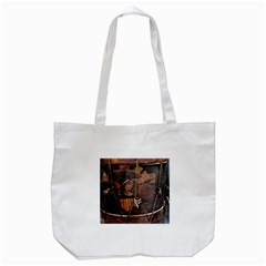 Grand Army Of The Republic Drum Tote Bag (white) by Riverwoman
