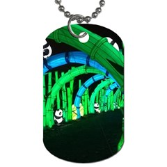 Dragon Lights Panda Dog Tag (two Sides) by Riverwoman