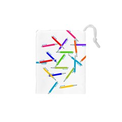 Pen Pencil Color Write Tool Drawstring Pouch (xs)