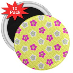 Traditional Patterns Plum 3  Magnets (10 Pack)