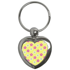Traditional Patterns Plum Key Chains (heart)