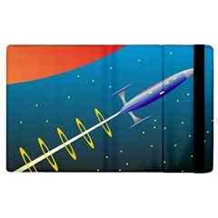 Rocket Spaceship Space Galaxy Apple Ipad 2 Flip Case by Desi8477