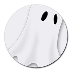 Ghost Boo Halloween Spooky Haunted Round Mousepads
