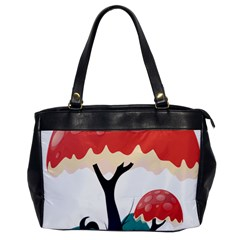 Tree Art Trunk Artwork Cartoon Oversize Office Handbag