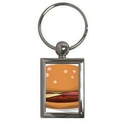 Hamburger Cheeseburger Burger Lunch Key Chains (rectangle)  by Sudhe
